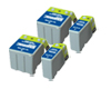 Double Set of Epson T003BK & T005C Compatible Ink (4) Cartridges