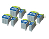 Quad Set of Epson T013BK & T014C Compatible Ink (8) Cartridges