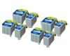 Quad Set Epson 4×T051BK/T052C 8 Cartridges
