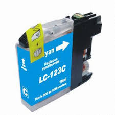 Brother LC125C (LC123C) Cyan Ink Cartridge Compatible
